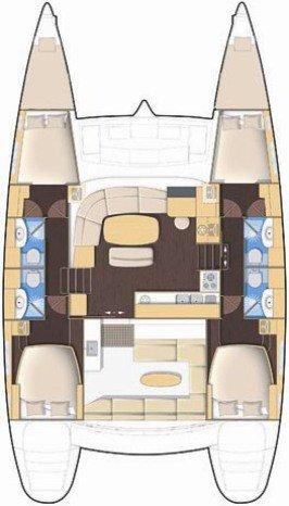 Boat for rent Lagoon-Bénéteau 44.0 feet in Yachtclub Seget (Marina Baotić), Seget Donji,