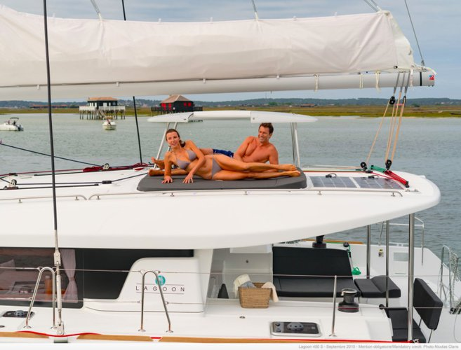 Boat for rent Lagoon-Bénéteau 45.0 feet in Cyclades, Greece