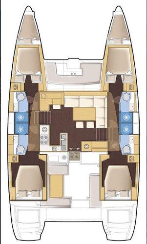 Boat for rent Lagoon-Bénéteau 45.0 feet in Athens - Marina Alimos (Kalamaki),