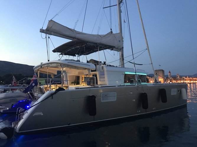 Catamaran boat rental in Marina Kastela, Croatia