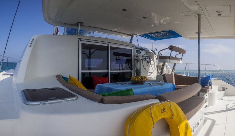 Catamaran boat for rent in Maldives