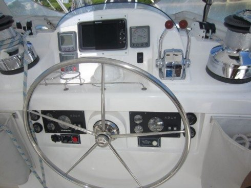 Catamaran boat for rent in True Blue