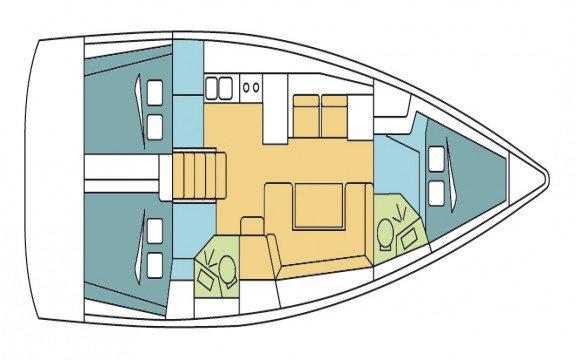 Discover  surroundings on this Custom Oceanis boat