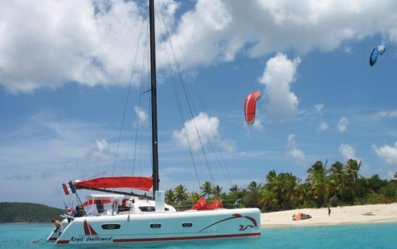 Cruise Martinique onboard this elegant 50' cruising catamaran