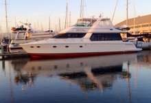 Dine & wine in California onboard this sleek motor yacht