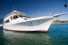 Charter this splendid motor yacht in San Diego