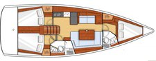 thumbnail-6 Bénéteau 40.0 feet, boat for rent in Ionian Islands, GR