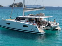 Enjoy Cyclades to the fullest on our Fountaine Pajot