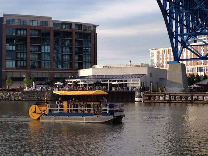 Explore Cleveland onboard Ohio's first & only pedal-powered party boat