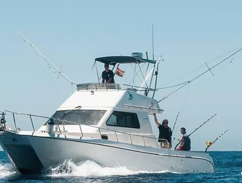 Enjoy Fishing in Spain onboard 35' fishing catamaran