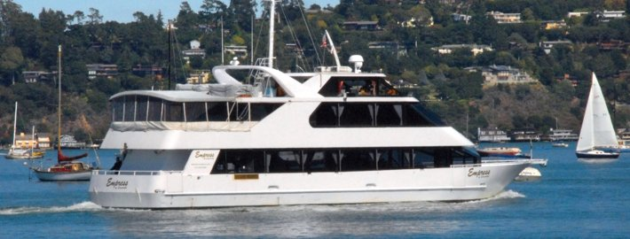This 90.0' Custom cand take up to 150 passengers around San Francisco