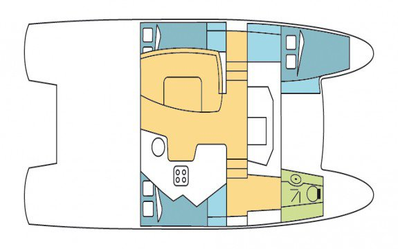 35.0 feet Fountaine Pajot in great shape