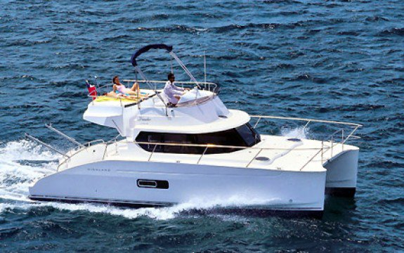 Experience royalty onboard 35' Fountaine Pajot Highland Pilot
