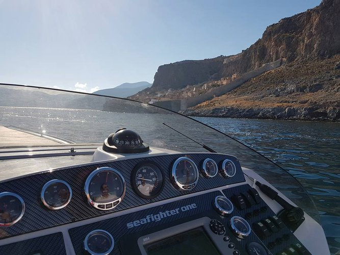 Rigid inflatable boat rental in Lavrio, Greece