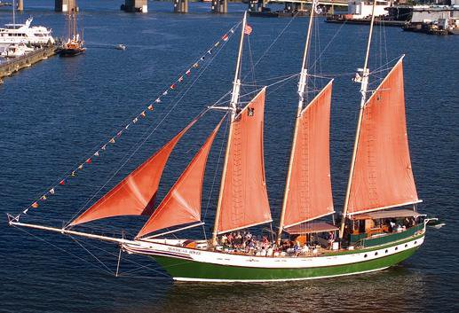 Dine & wine in Virginia onboard 135' classic sailboat