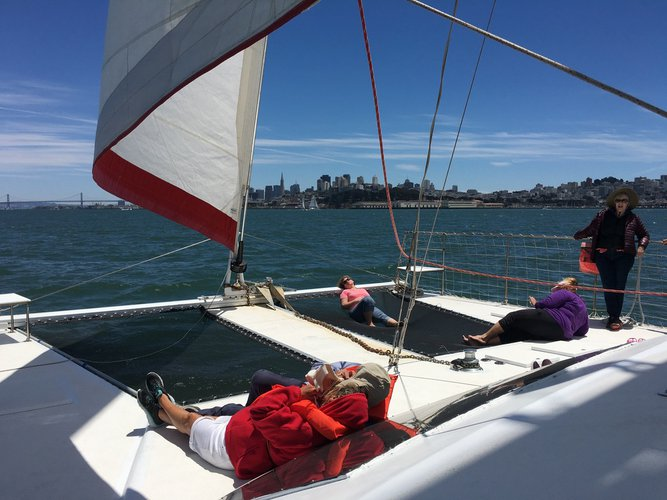 Catamaran boat for rent in San Francisco