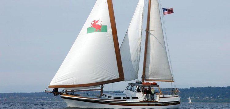 Charter this 65' classic sailboat to see the real Seattle and Puget Sound