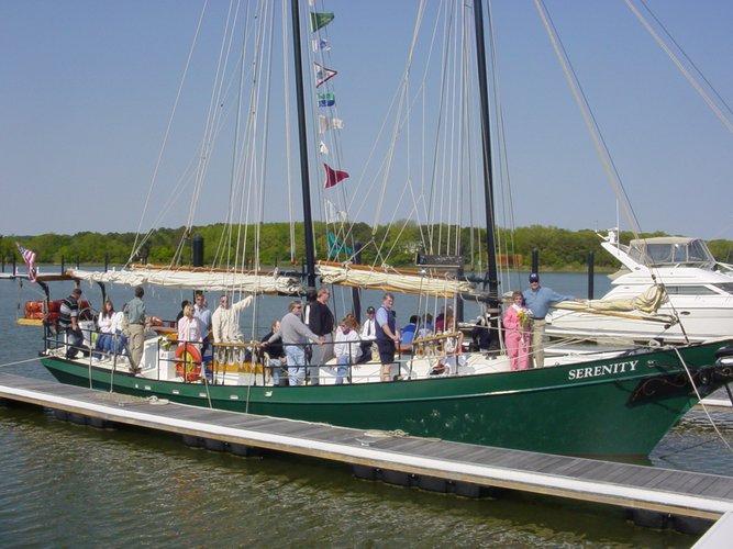 Schooner boat rental in Yorktown, VA