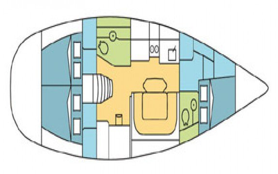 Sloop boat for rent in Ajaccio