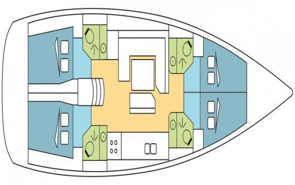 Jeanneau boat for rent in Olbia
