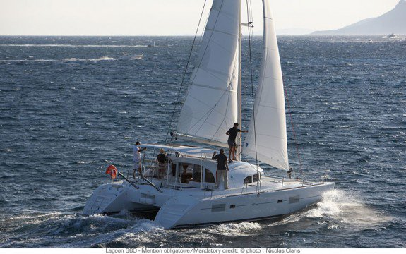 Charter 38' cruising catamaran in Ajaccio, France