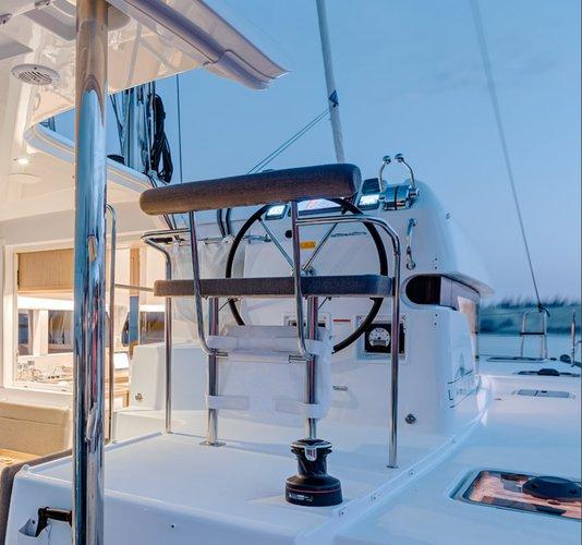 Discover Santa Cruz De Tenerife surroundings on this Custom Lagoon boat