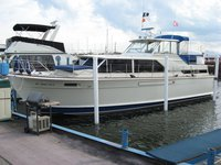 Discover superb sights in Michigan onboard 42' Chris Craft motor yacht