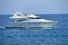 Charter a 68' Ferretti to explore amazing sights in Greece