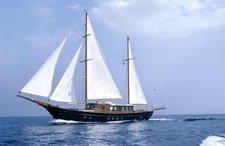 Charter 93' crewed motor sailer in Greece
