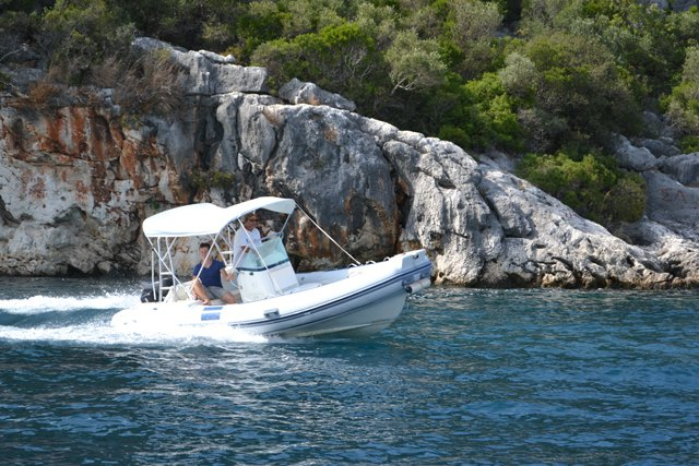 Discover Lefkada surroundings on this Custom North Star boat