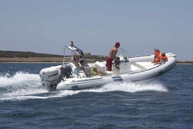 Boating is fun with a Rigid inflatable in Antiparos