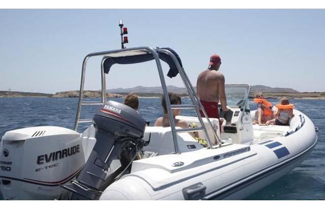 Rigid inflatable boat rental in Antiparos, Greece