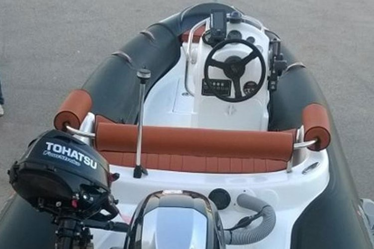 OLYMPIC 4.30 CARBON LOOK TENDER - 40HP TOHATSU BASED IN ATHENS