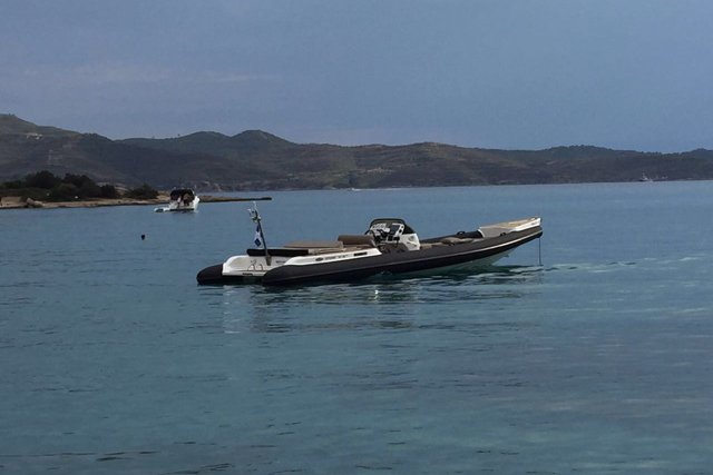 Boating is fun with a Rigid inflatable in Paros