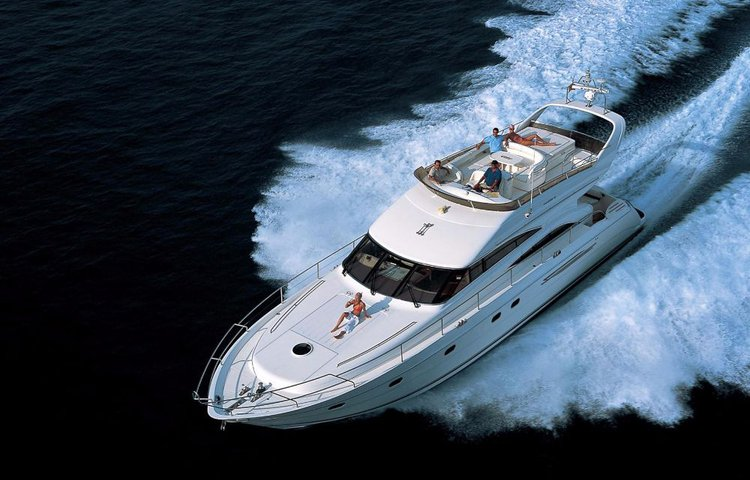 Jump aboard this beautiful Princess Yachts Princess 61 Fly