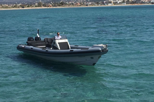Rigid inflatable boat for rent in Saronic Gulf