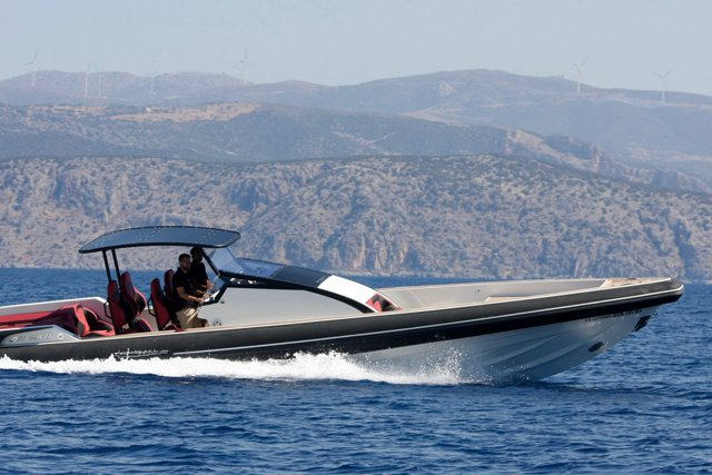 Explore Greece onboard 43' Technohull Omega Red