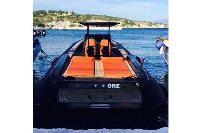 Discover Samos surroundings on this Omega 41 Technohull boat