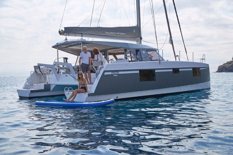 Discover Ionian Islands surroundings on this Nautitech 40 open NEW Bavaria Yachtbau boat