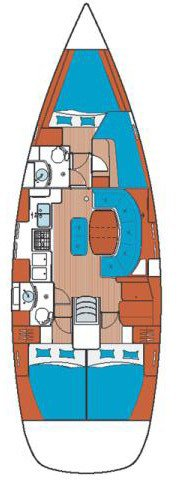 Discover Saronic Gulf surroundings on this Oceanis Clipper 411 Bénéteau boat
