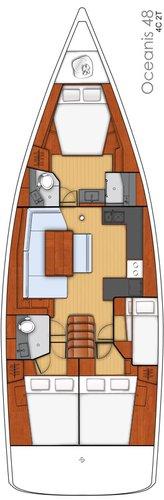 Discover Split region surroundings on this Oceanis 48 Bénéteau boat