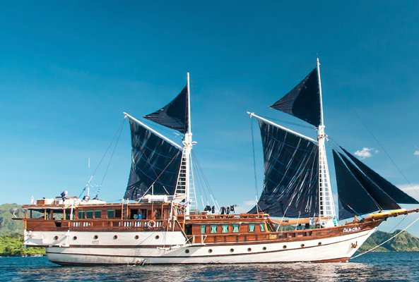 Explore Raja Ampat, Indonesia onboard this traditional Pinisi style Liveaboard