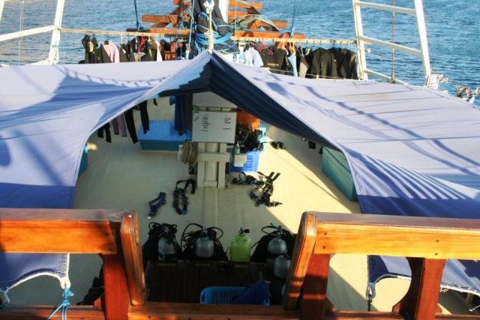 Classic boat rental in West Papua, Indonesia
