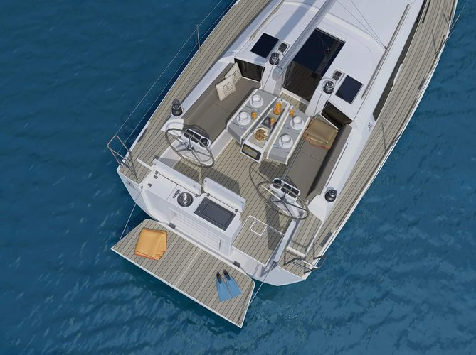 This 33.0' Dufour Yachts cand take up to 8 passengers around Zadar region