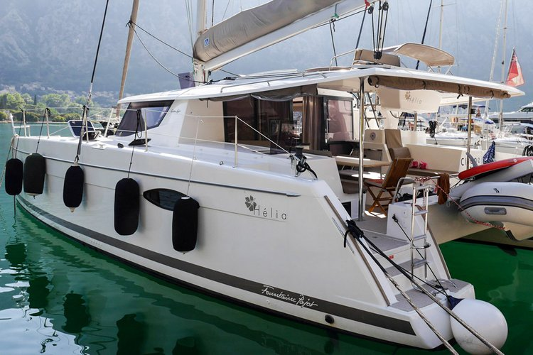 Discover Montenegro surroundings on this Helia 44 Fountaine Pajot boat