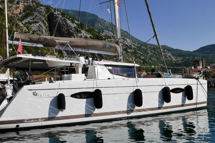 Catamaran boat rental in Dukley Marina, Budva, Montenegro