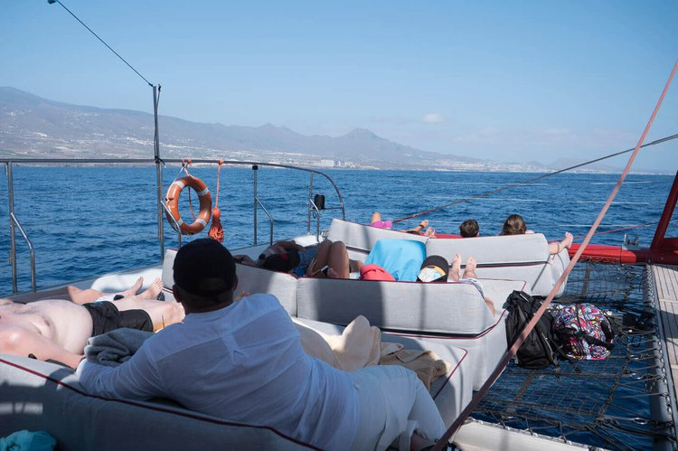 Up to 116 persons can enjoy a ride on this Catamaran boat