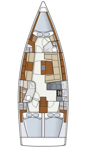 This 40.0' Hanse Yachts cand take up to 8 passengers around Saronic Gulf