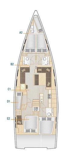 Boat for rent Hanse Yachts 53.0 feet in Marina Kastela,