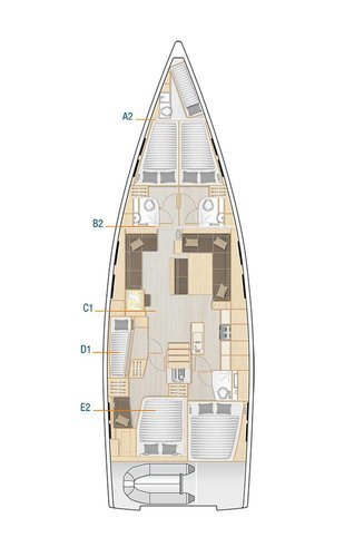 Hanse Yachts's 53.0 feet in Zadar region